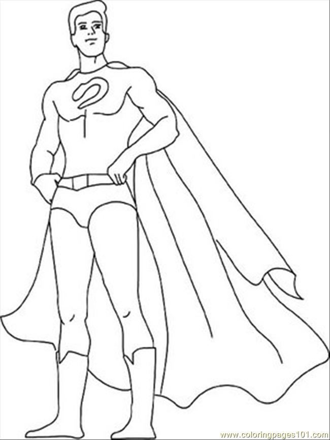 free superhero coloring pages online - photo#1