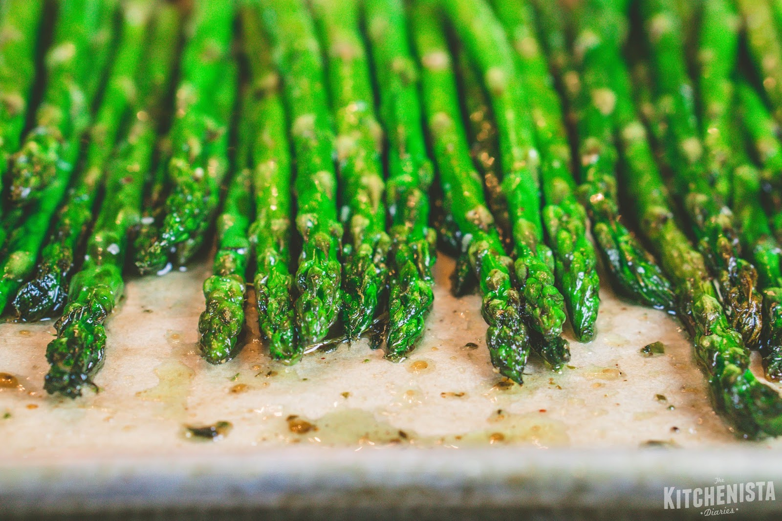 Roast The Asparagus On The Top Rack Of The Oven For 8 To 10 Minutes, Until  Crisp Tender And Slightly Charred After Removing From The Oven, Drizzle  With