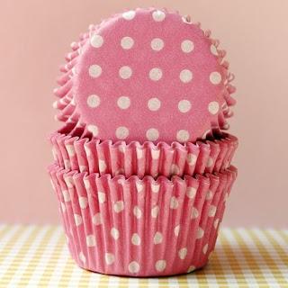 PolkaDot forminha de cupcake poá rosa