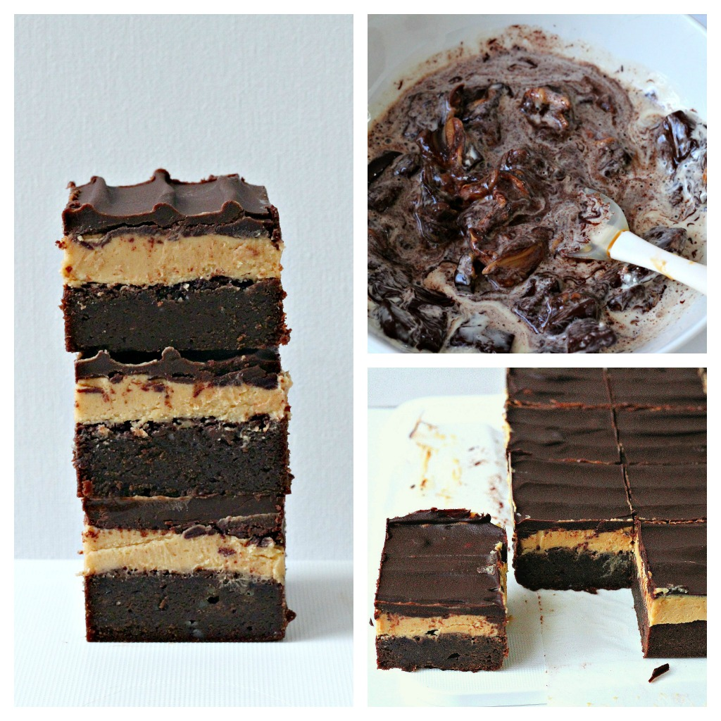peanut butter brownies triple decker peanut butter triple decker