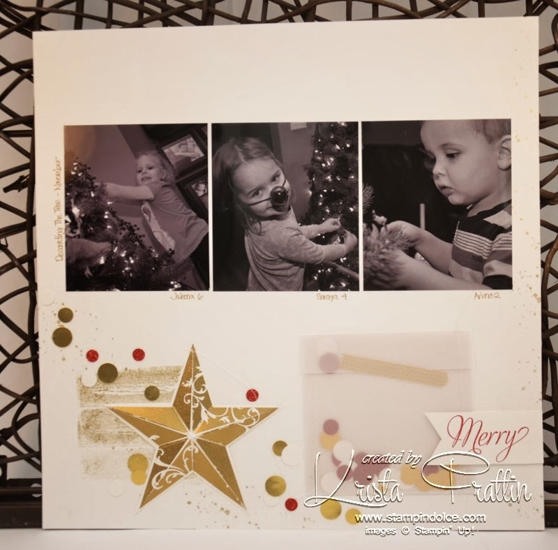 Stampin Dolce Christmas Scrapbook Layout