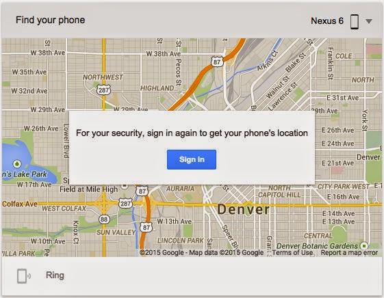 Google search 'Find My Phone' untuk mencari Android yang hilang Anda