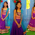 Baby in Purple Ghagra Choli