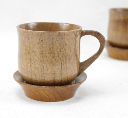 Wooden Coffee Cup with Coaster by WEIWU