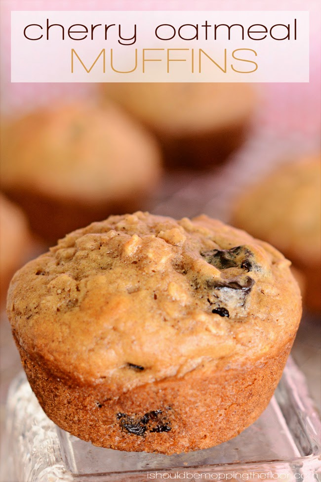 Cherry Oatmeal Muffins   Perfect to store in the freezer for busy mornings or kids' lunch boxes.
