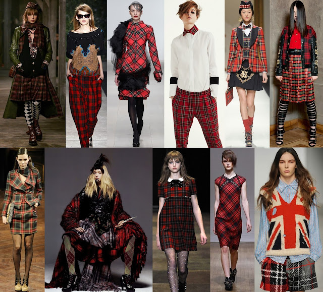 Tartan, Tartan trend, Plaid trend, plaid, checked trend, traditional,chanel, tracy reese, corrie nielson, thornton bregazzi, moschino, fausto puglisi, vivienne westwood, gaultier, yves saintlaurent, clements ribeiro, ashish