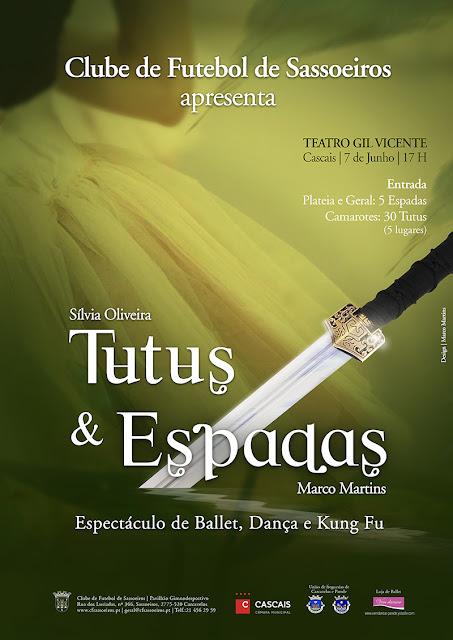 Tutus e espadas - Espectáculo de ballet, dança e kung fu - Cartaz