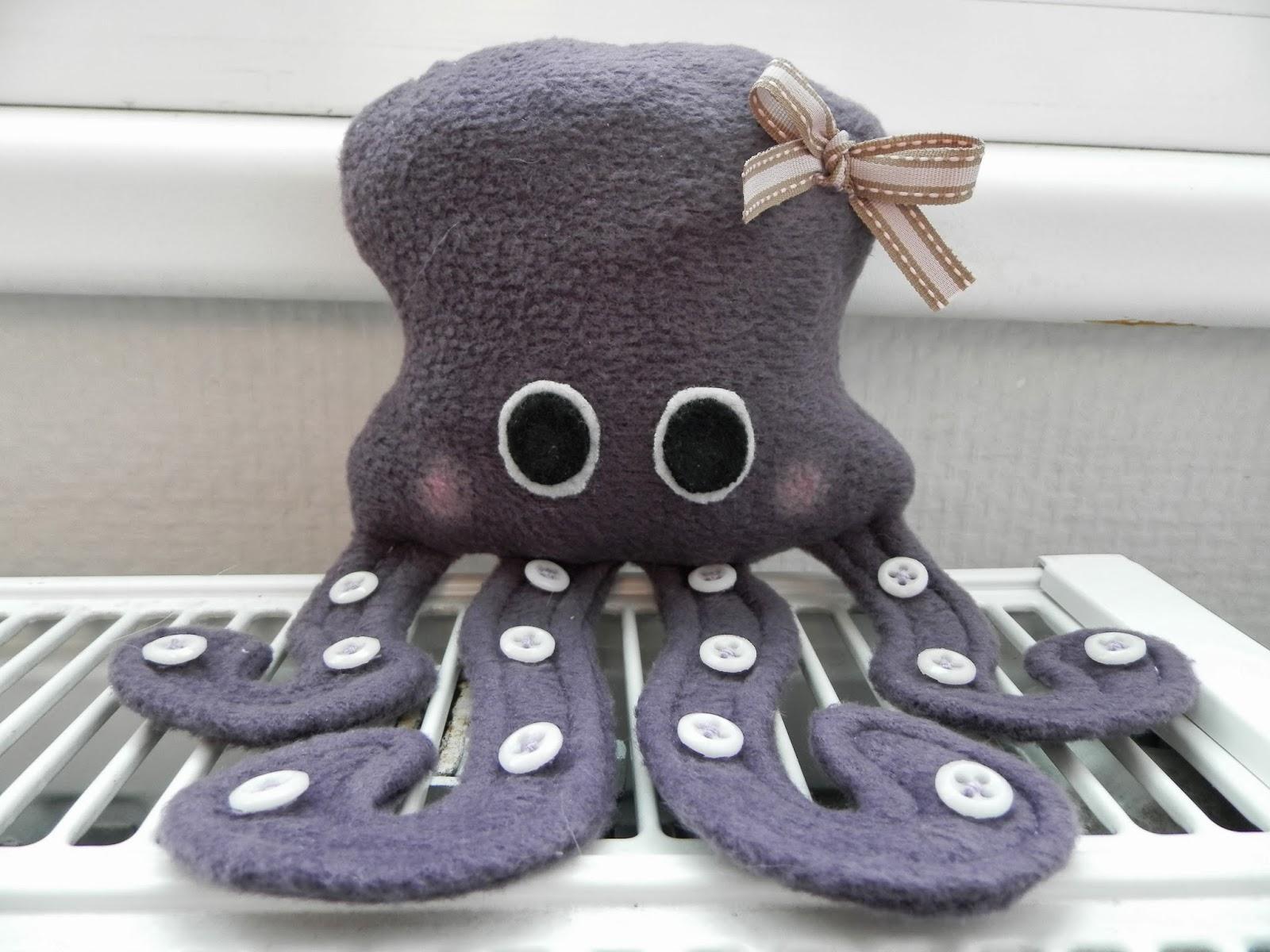coton et création : doudou pieuvre