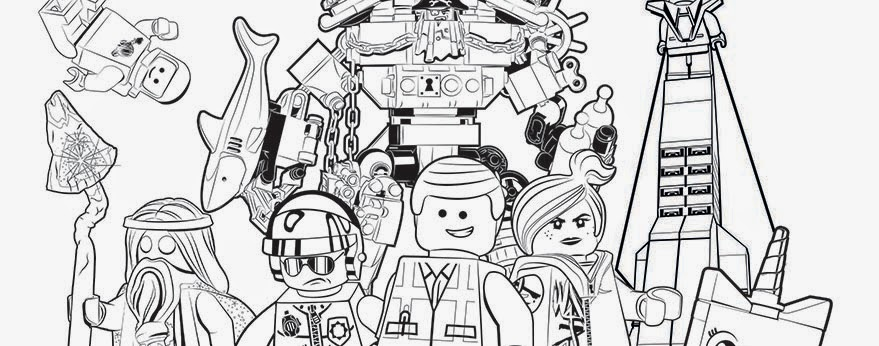 The LEGO Movie watching party ideas coloring  pages