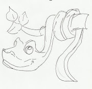 Desenho de cobra no galho para pintar