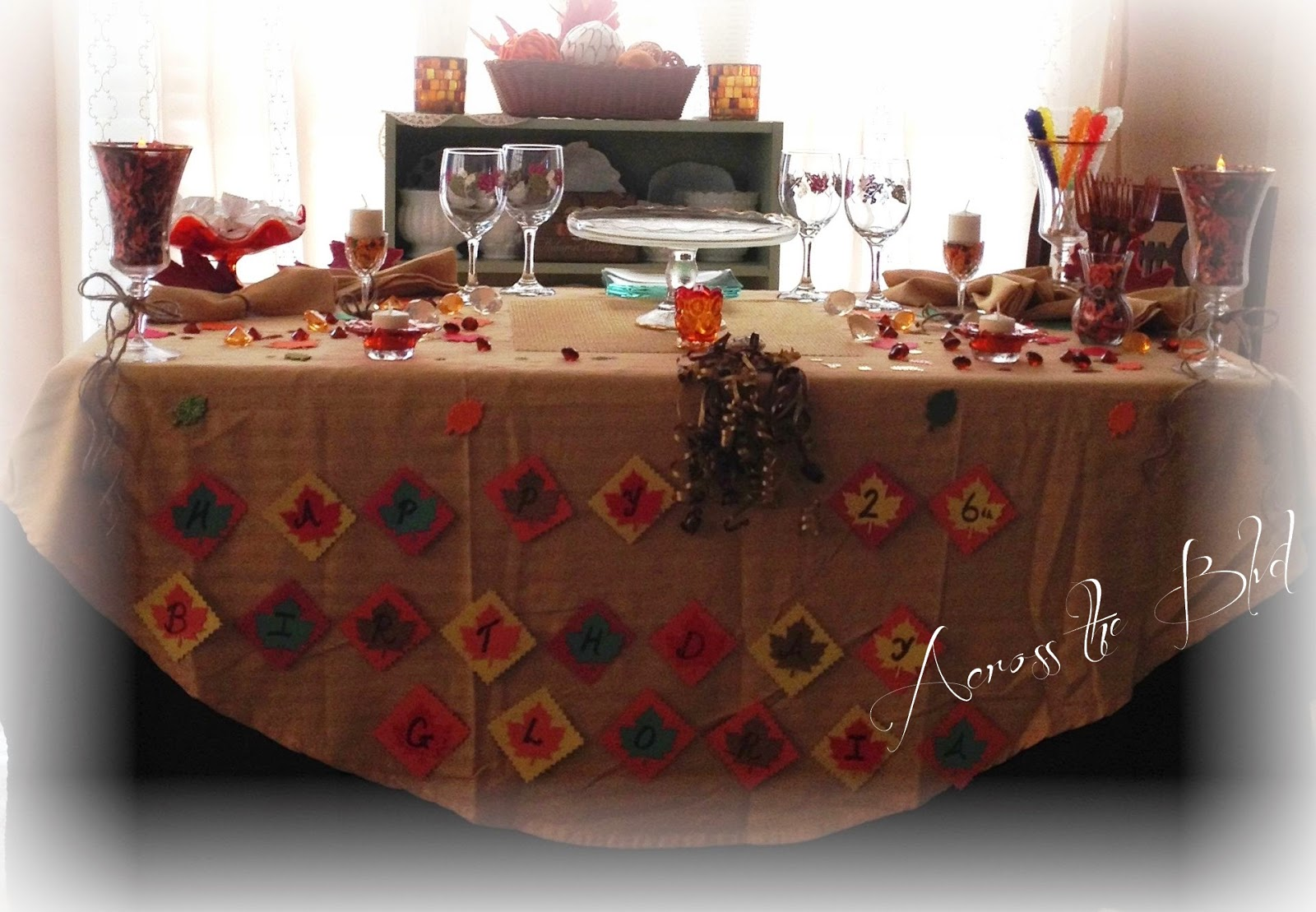 fall decor for birthday party
