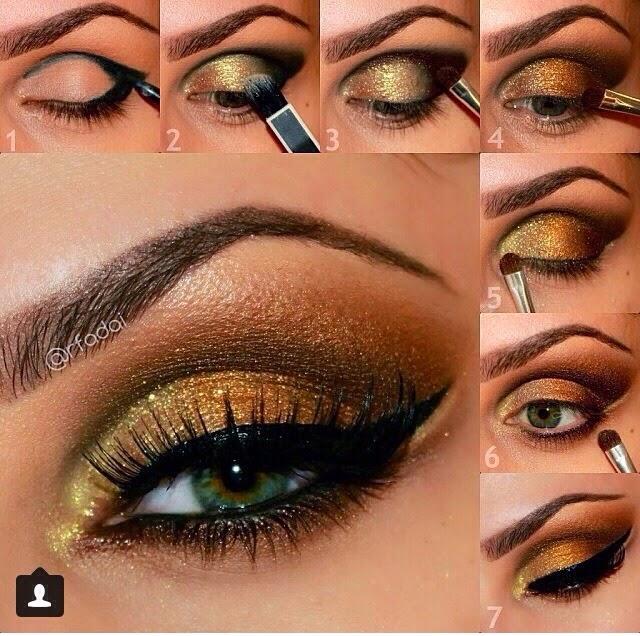 Bridal Golden Eyeshadow Tutorial B G Fashion