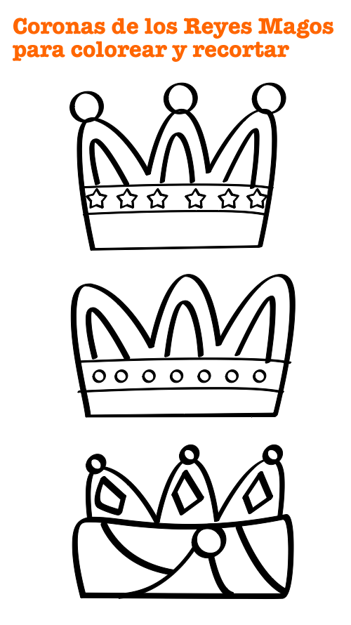 Dibujos para Colorear: Corona Reyes Magos para colorear