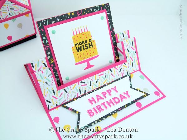 It's My Party Fancy Fold Swing Easel Card