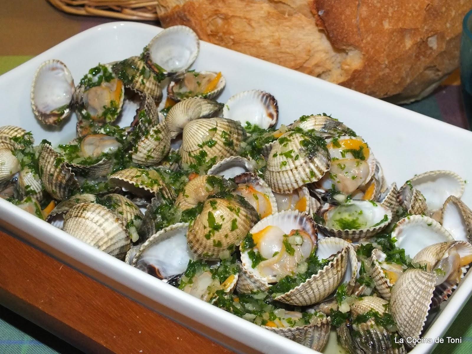 La cocina de toni berberechos a la plancha - Como cocinar berberechos ...