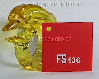 Mica màu đỏ FS 136