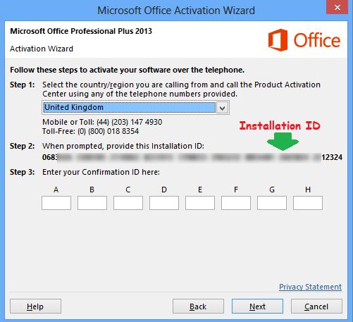 Kode Installasi Office 2013