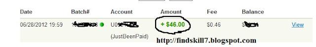Pembayaran ke 4  $50 Jusbeenpaid.com image