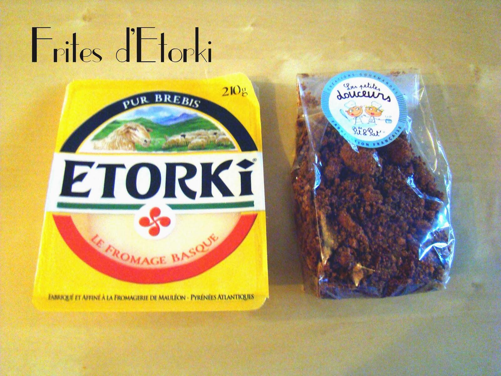 Frites d'Etorki au pain d'épices