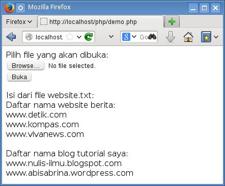 buka file dari komputer client dengan input type file