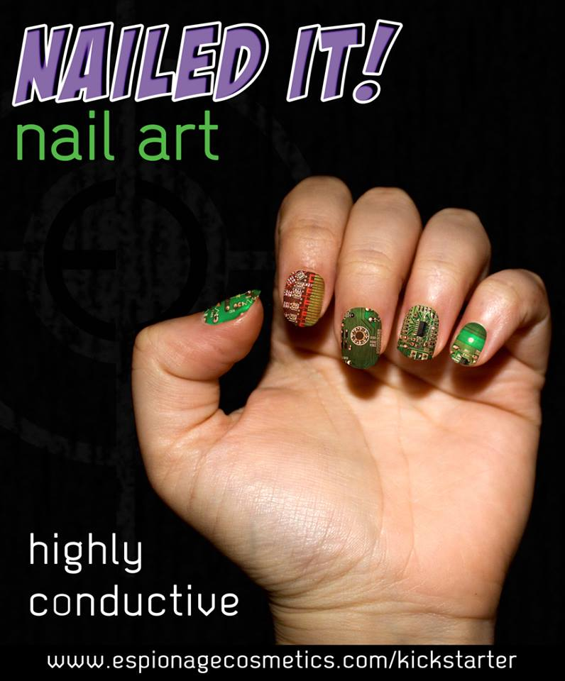 geek with curves: Wrap Your Nails With Nerd Prints!