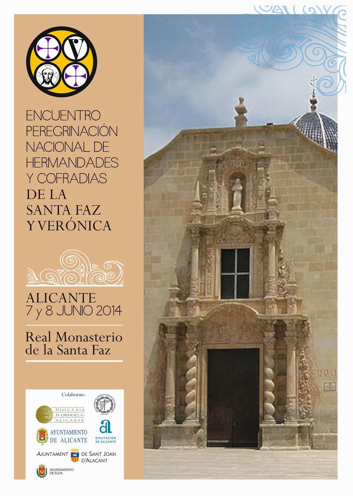 Cartel Encuentro Peregrinacion Santa Faz  y Veronica