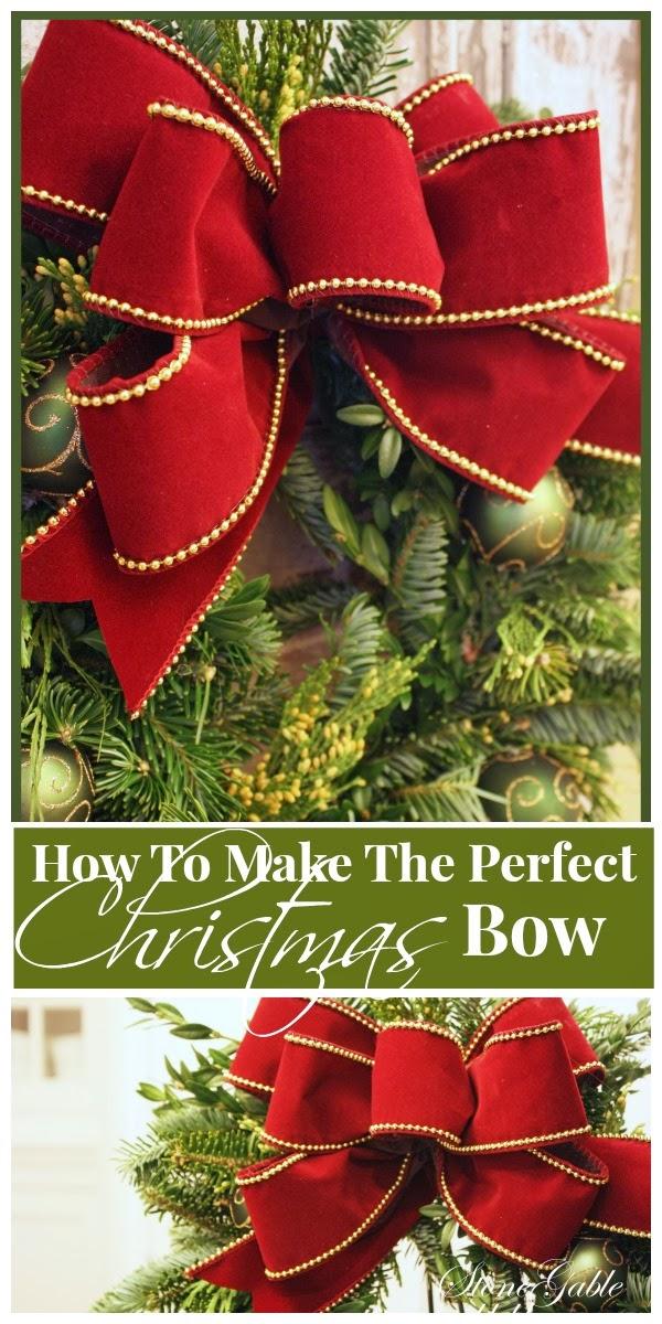 Making A Christmas Bow Stonegable