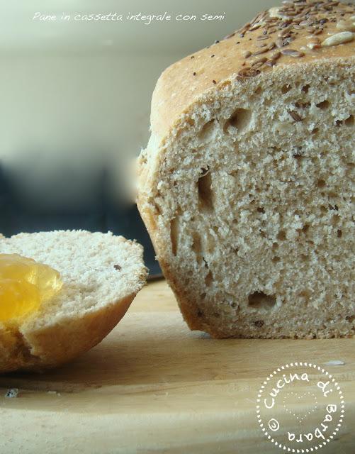 Pane in cassetta integrale e semi con lievito madre