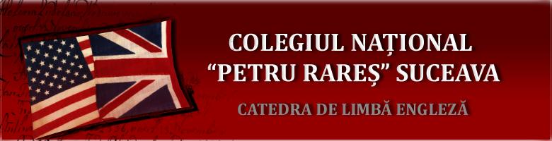 Catedra de Engleza C.N.P.R.