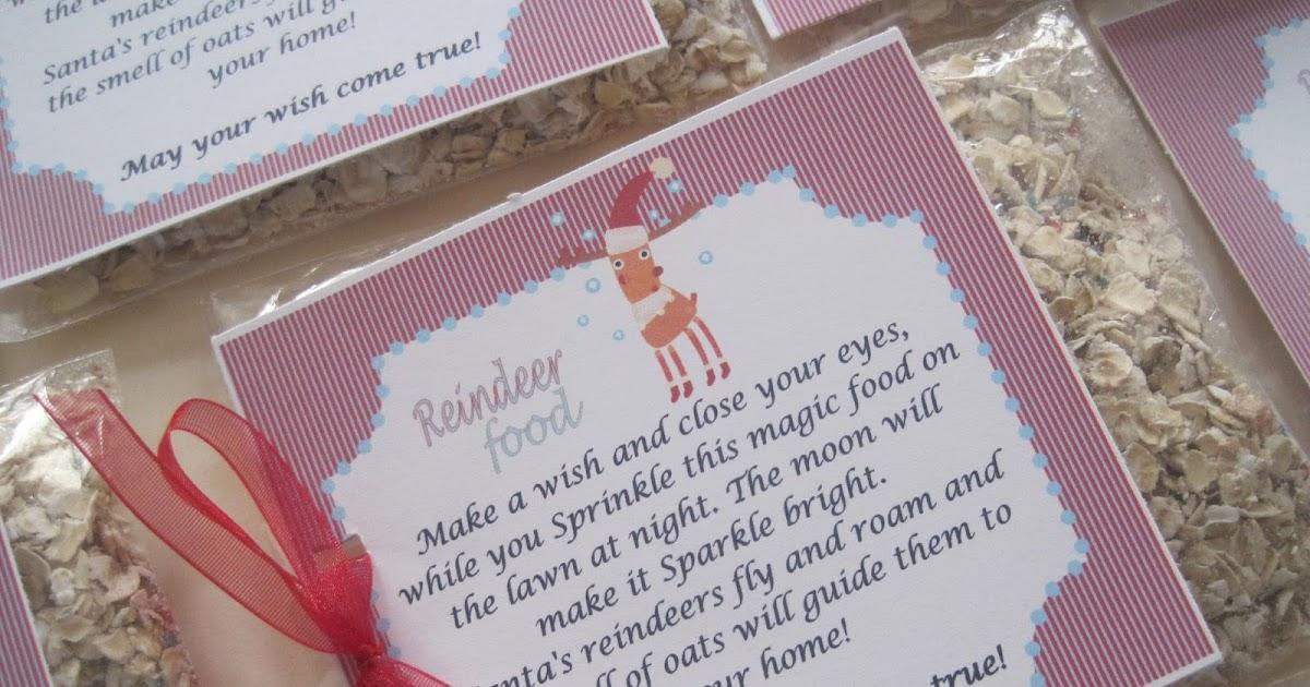 Party-Tales: ~ Free Printables ~ Reindeer Magic Food Labels