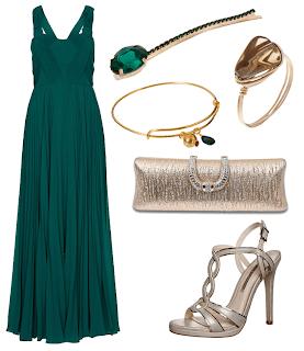 Vestido y complementos elegantes
