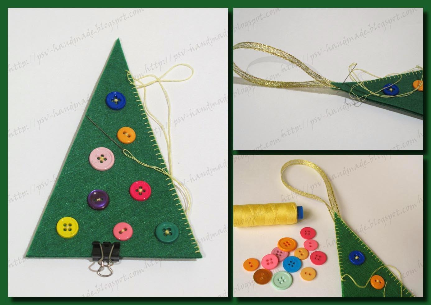Мастер-класс по пошиву елочек из фетра к новому году с рассылкой выкроек.