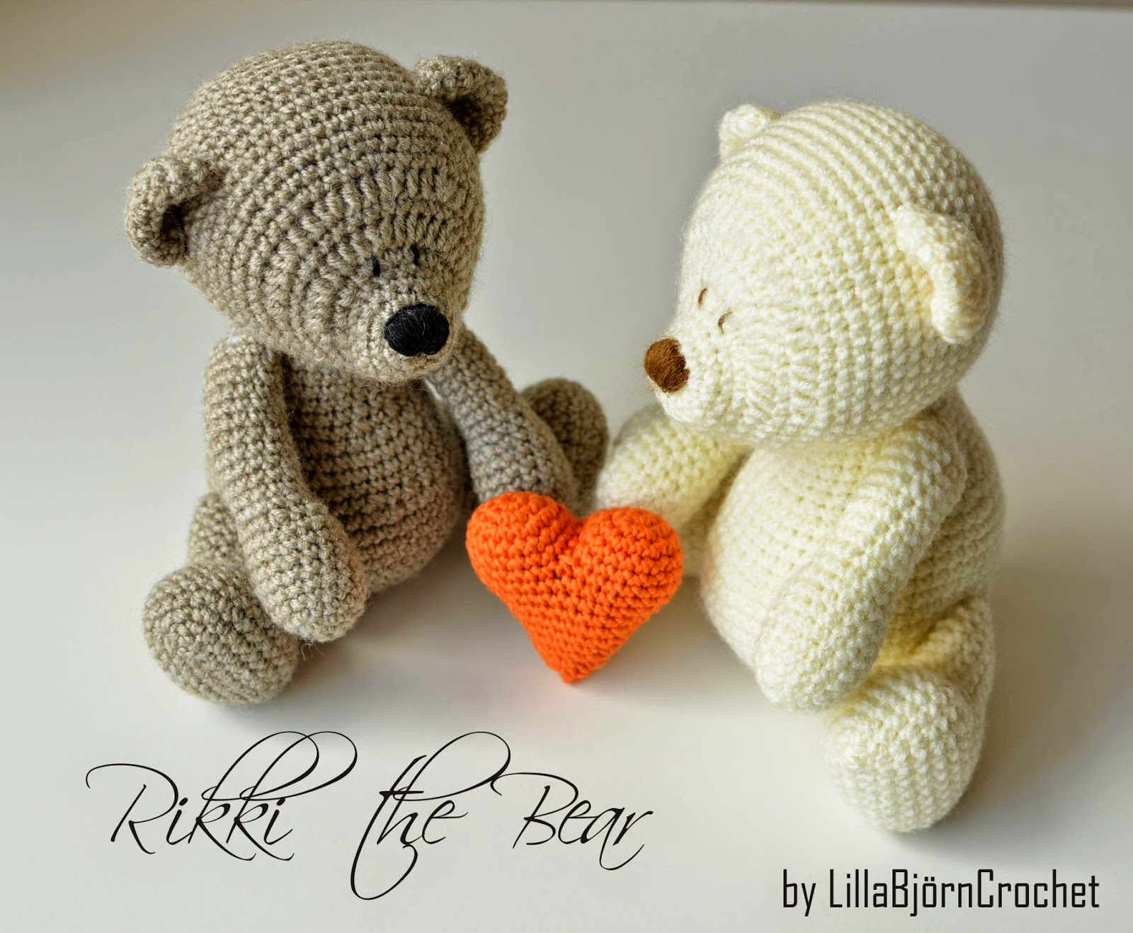 Amigurumi Teddy Bear Free Patterns : Free heart pattern and my rikki bear lillabjörn's crochet world