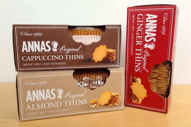 Annas - Original Pepparkaka - Ginger,  Almond, Cappuccino Thins