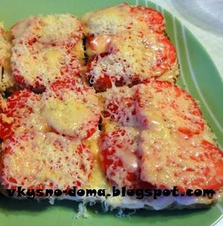 Бутерброды острые с помидором и чесноком