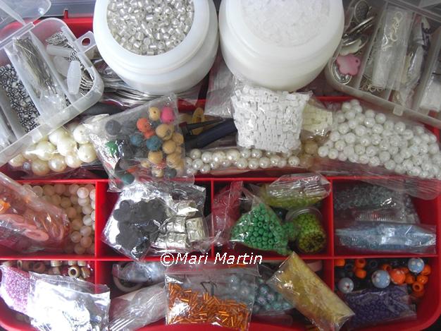 Beads on crochet