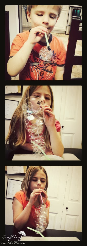 Kids Bubble Activity | Crafting in the Rain #bubbles