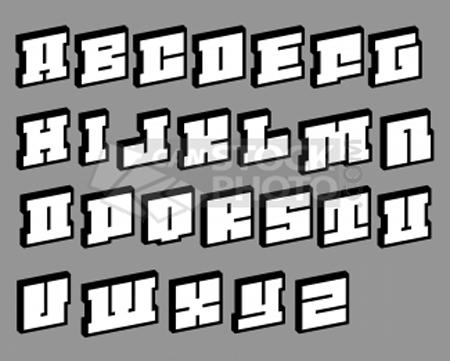 New Graffiti Art Alfabeto Em Grafite 3d Graffiti Alphabet