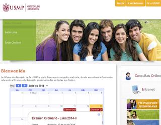 Resultados exámen de admisión USMP 2014-2