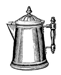 Digital Clip Art Coffee Pot