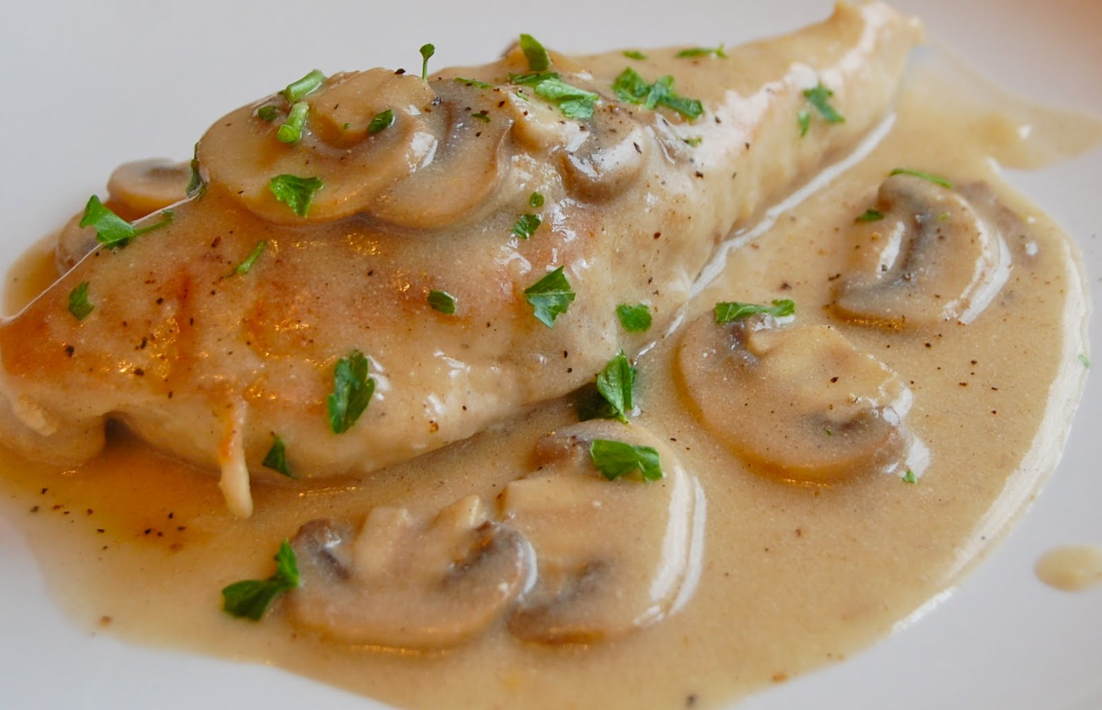 Chef Mommy: Baked Chicken with Mushroom Sauce