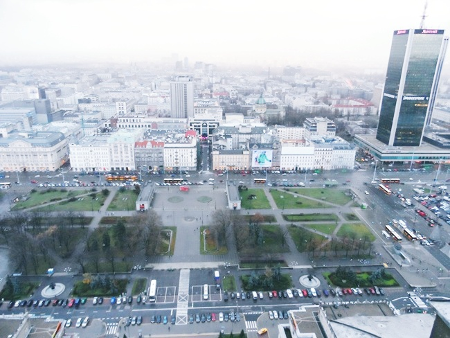 The Palace of Culture and Science Warsaw Poland.View from the Palace of culture and science,30th floor,Warsaw.What to see in Warsaw.Palata kulture i nauke,Varsava,Poljska.