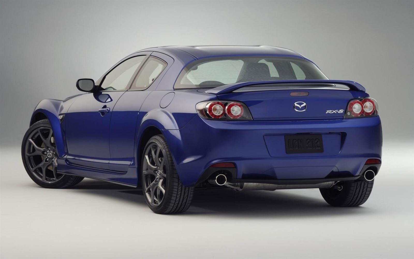 Mazda RX 8 back view stock