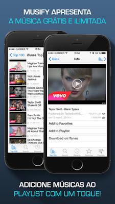 Musify - Streaming de músicas grátis para aparelhos da Apple
