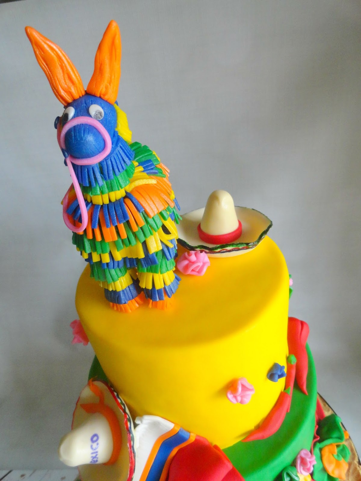 my pink little cake mexican fiesta theme cake