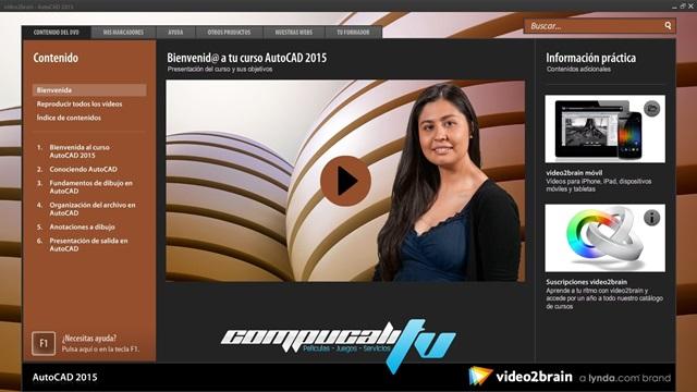 Curso VIDE02BRAIN AutoCAD 2015 Español