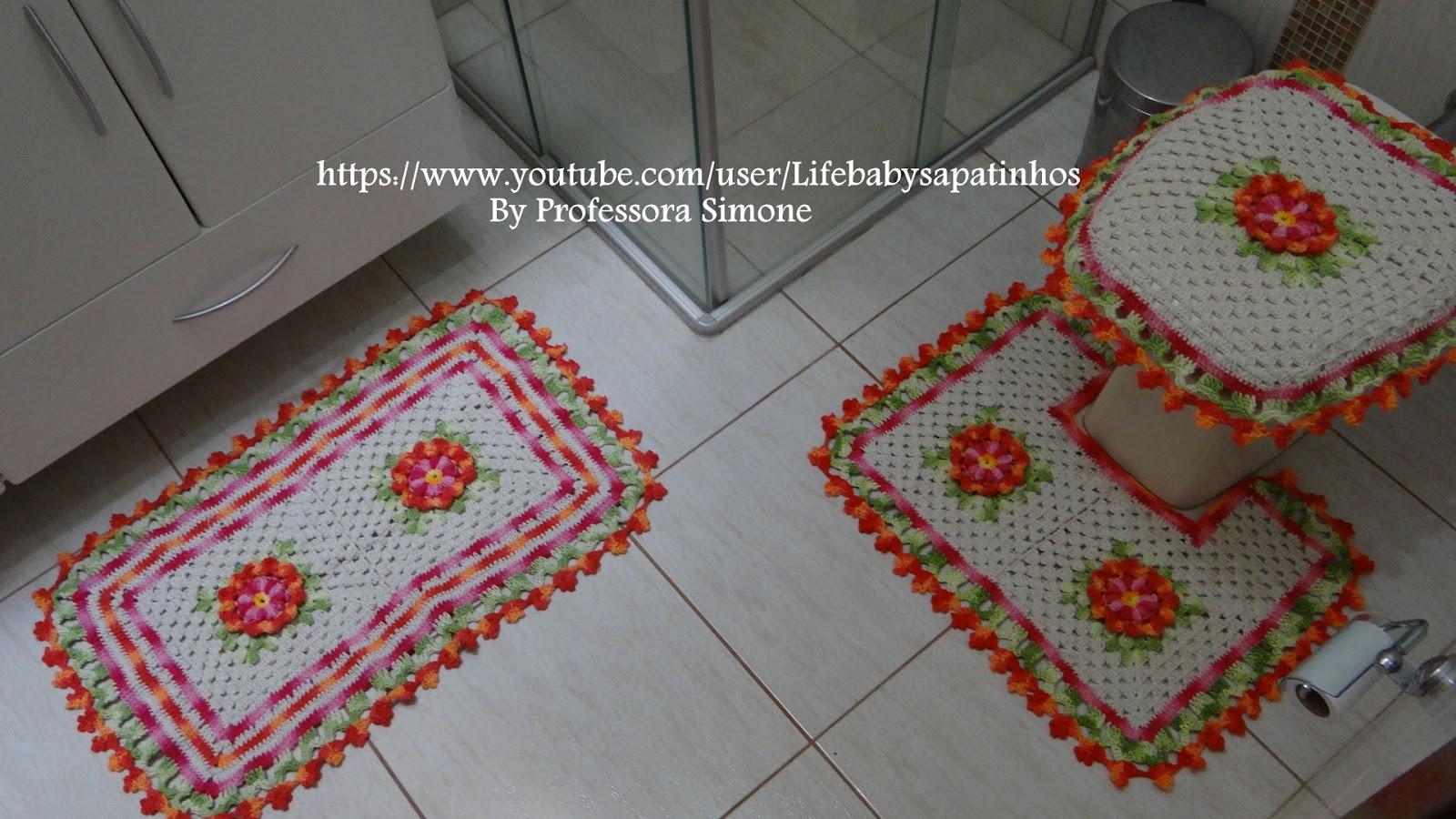 Passo A Passo Flor De Outono Em Croch Ateli Do Croch  ~ Como Fazer Conjunto De Cozinha