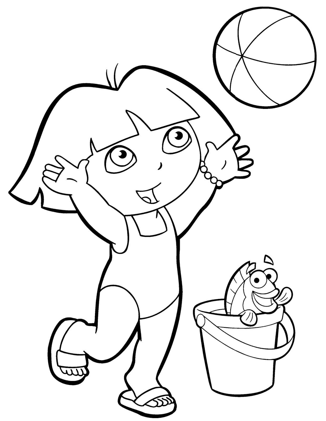 Free Coloring Pages Dora Sheets For Kids