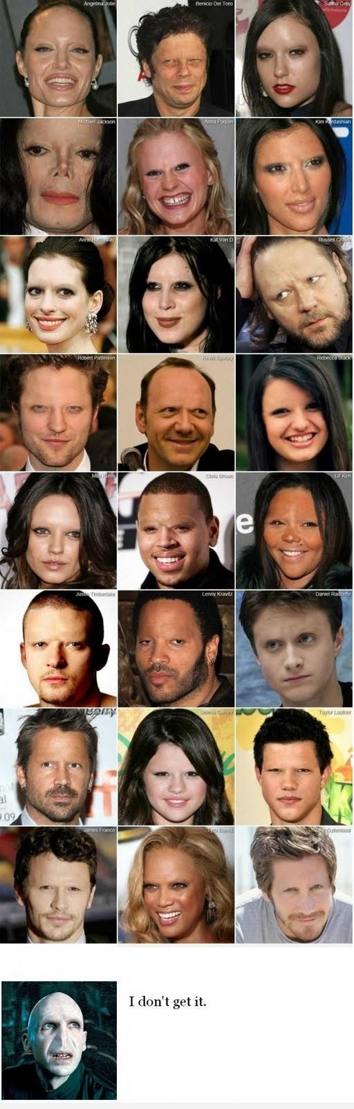 Celebrities Looking Weird Without Eyebrows funny humor pic
