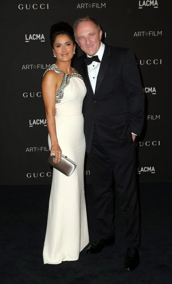 She's already 48-year-old, but Salma Hayek cut an incredible sophisticated figure as she attended the LACMA event at Los Angeles, USA on Saturday, November 1, 2014.